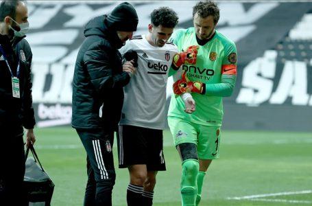 Beşiktaş'ta Oğuzhan'ın sağ alt baldır arka adalesinde gerilme ve ödem tespit edildi