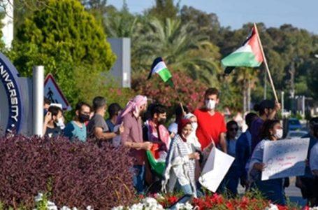 DAÜ'de İsrail'in Gazze'ye yönelik saldırları protesto edildi