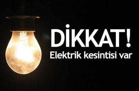 Güneşköy'de 3 saatlik elektrik kesintisi