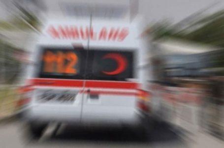 Araç ile bisiklet çarpıştı…Bisiklet sürücüsü yaralandı