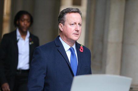 İngiliz hükümeti eski Başbakan Cameron'a lobicilik soruşturması açtı