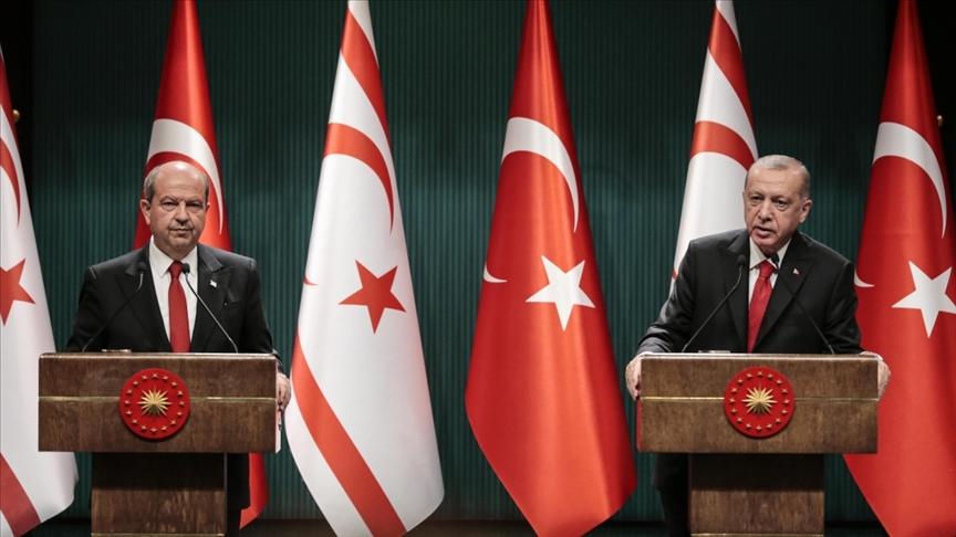 Cumhurbaşkanı Erdoğan KKTC Cumhurbaşkanı Tatar